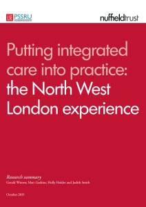 Putting integrated care into practice